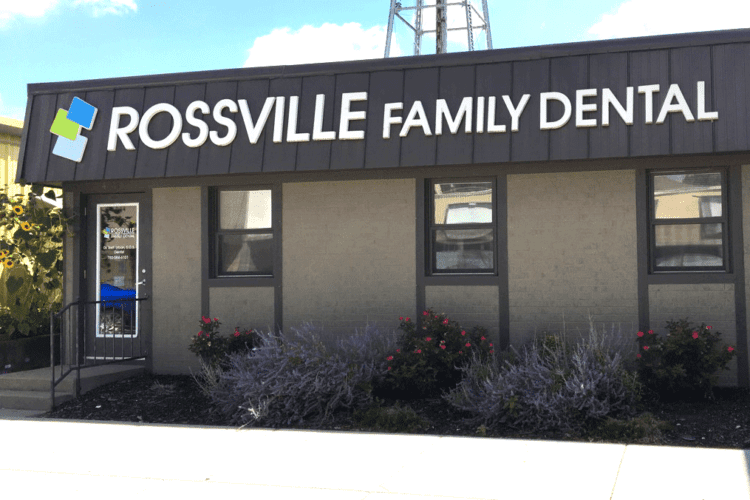 Exterior image of Rossville Family Dental building